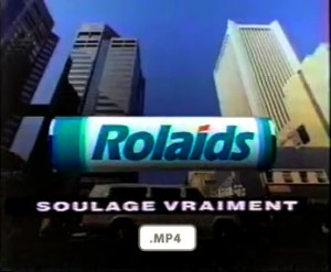 Johnson and Johnson Rolaids ad from 1993